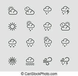 vektor, väderleksutsikter, pictogram