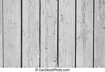 vektor, vägg, årgång, ved, bakgrund, vit
