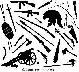 vektor, våben, blande