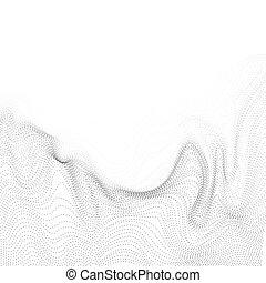 vektor, vågor, dynamisk, bakgrund