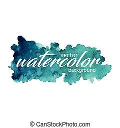 vektor, vízfestmény, háttér