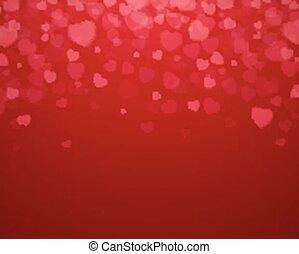 vektor, valentines nap, kártya