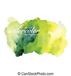 vektor, vattenfärg, bakgrund