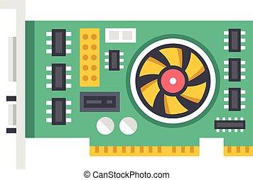 vektor, video, grafik, karte