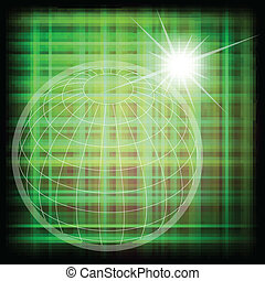 vektor, világ, rács, földgolyó, háttér