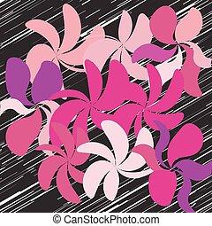 vektor, virág, háttér