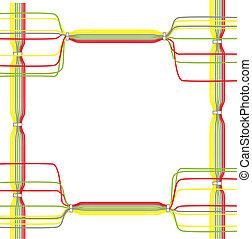 vektor, von, farbe, kabel