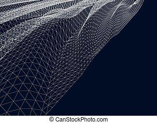 vektor, wasser, wellig, rasterhintergrund, surface.