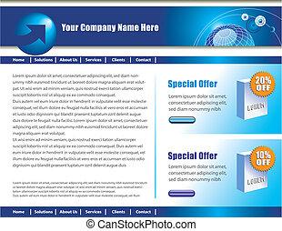 vektor, web site, design, schablone