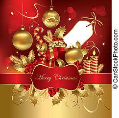 vektor, weihnachten, abbildung