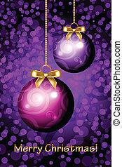 vektor, weihnachten, fröhlich