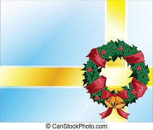 vektor, weihnachten, schleife