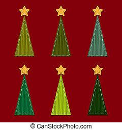 vektor, weihnachtsbäume