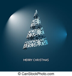 vektor, weihnachtsbaum