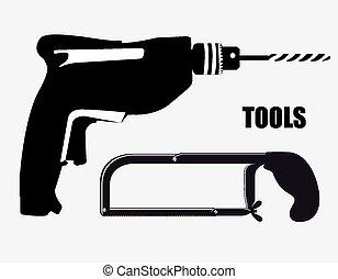 vektor, werkzeuge, design, illustration.