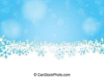 vektor, winter, hintergrund