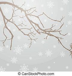 vektor, winterly, filial