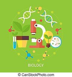 vektor, wissenschaft, biologie, begriff, wohnung