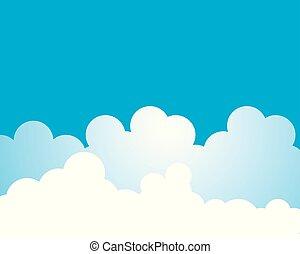 vektor, wolke, abbildung, ikone