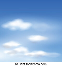 vektor, wolkenhimmel