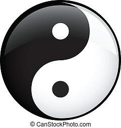vektor, ying yang