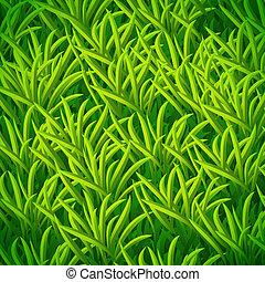 vektor, zöld fű