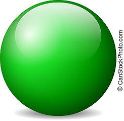 vektor, zöld labda