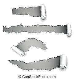 vektor, zerrissenen papier