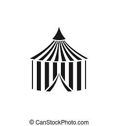 vektor, zirkus zelt