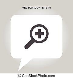 vektor, zoom, ikone