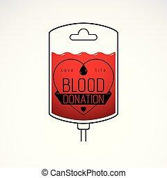 vektorgrafik, medizin, freigestellt, abbildung, symbol., donorship, tropfer, behandlung, white., healthcare, begrifflich, freiwilliger, blut