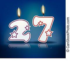 vela, 27, número, cumpleaños