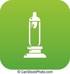 vela, car, vetorial, verde, ícone