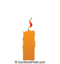 vela, vector, ilustración