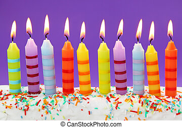 velas, aniversário, dez