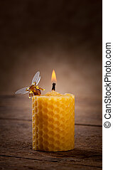 velas, cera de abejas