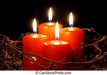 velas de navidad