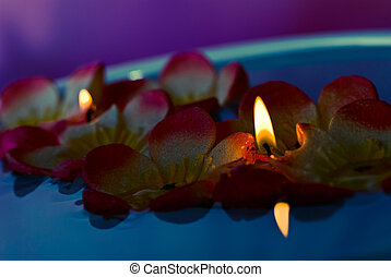 velas, flutuante