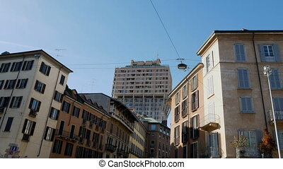Velasca tower neighbourhood in Milan, Italy