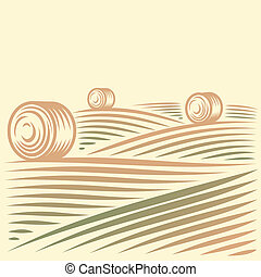 velden, haystacks, landscape