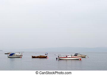 veleiros, ligado, oceânicos