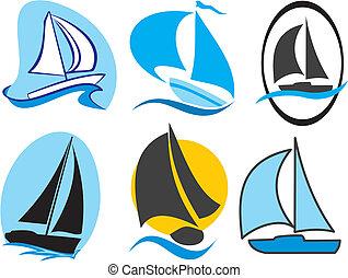 velejando, ícones