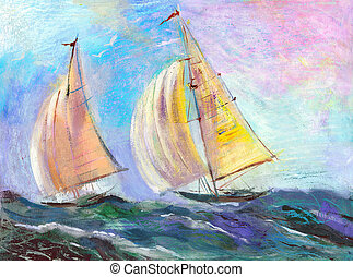 velejando, regata