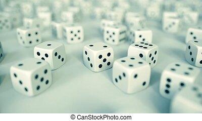 velen, geluksspelletjes, dices., casino, of, kans, verwant,...