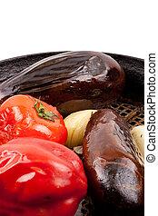 velen, groentes, in, een, kom