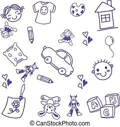 velen, speelbal, kunst, geitjes, doodle