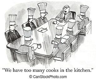 velen, wij, koks, hebben, keuken