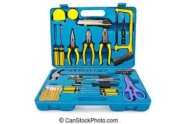 velen, witte , gereedschap, toolkit, vrijstaand