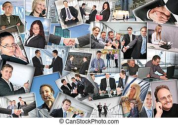 velen, zakelijk, afbeeldingen, collage