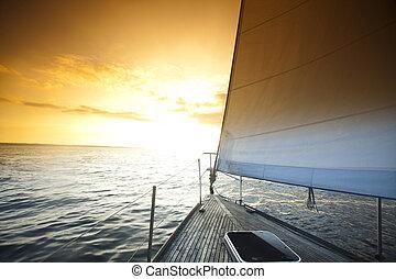 velero, mar abierto